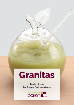 Table of use - Granitas - Les vergers Boiron