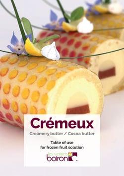 Table of use - Crémeux - Les vergers Boiron